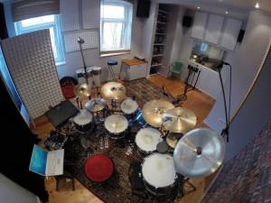 Aufnahmestudio Schlagzeug komplett 1
