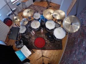 Aufnahmestudio Schlagzeug komplett 2